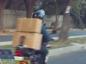 The local DHL courier?