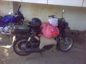 Mopeds (especially the TVS with its mighty 50cc engine) are ideal for cargo